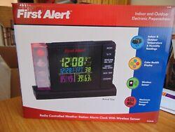 First Alert Radio Controlled Weather Station Alarm Clock