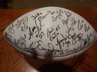1986 NY Giants Super Bowl XXI Champions Autographed Football  Autographed Super Bowl Xxi Football