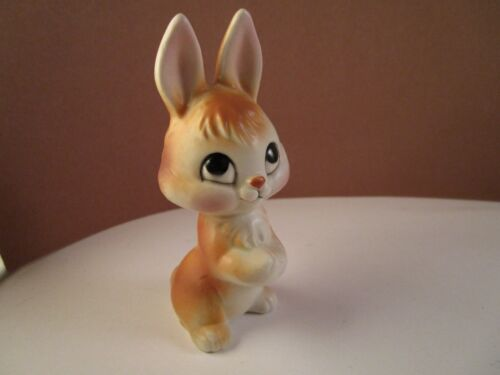 Vintage Made in Japan Art Pottery Bunny Rabbit Easter Figurine