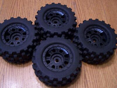 Redcat Racing 1/8 Kaiju 17mm Black Wheels & All-Terrain Tires Glued Foam Inserts