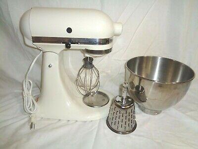 Kitchen AId Ultra Power Stand Tilt Mixer Cream Color 10 Speed Model KSM90BI
