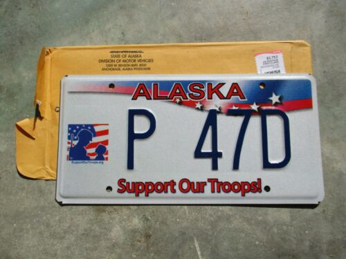Alaska Support Our Troops license plate  #   P  47D
