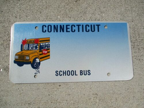 Connecticut School Bus Blank license plate