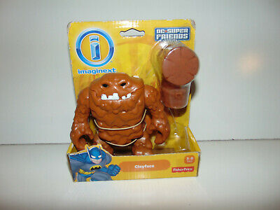IMAGINEXT Fisher-Price CLAYFACE W/ Hammer DC Super Friends NEW IN BOX! HTF