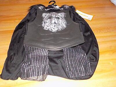 Boy's Size Small 4-7 Knight Wolf Halloween Costume Cape Shirt w Armor Leg Guards](Wolf Boy Costume)