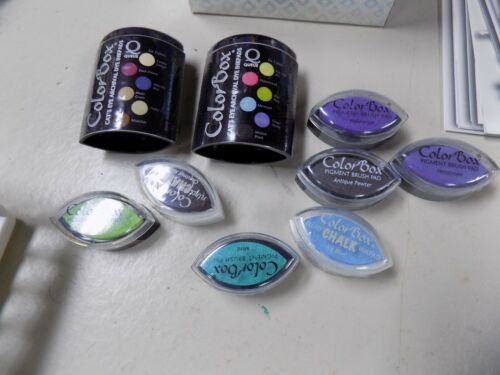 NEW NIP NOS crafting COLORBOX COLOR BOX LOT OF INKS