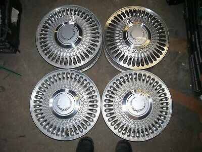 "89-93 CADILLAC DEVILLE ELDORADO SEVILLE 15"" X 6"" MACHINE PAINTED WHEELS RIMS SET"