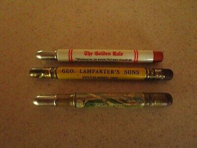 Lot of 3 Vintage Advertising Bullet Pencil