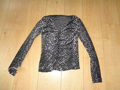 KAREN KANE-LADIES VINTAGE T-shirt blouse top SIZE 8-10-12 party WORKWEAR FORMAL
