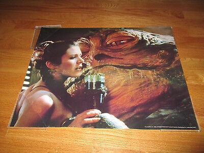 Original 1983 Star Wars Carrie Fisher  Princess Leia  Poster W  Jabba The Hutt