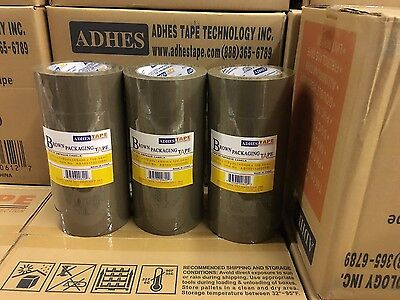 30 Rolls Premium Brown Carton Box Sealing Packing Tape 2.0 Mil Thick 2x110 Yard