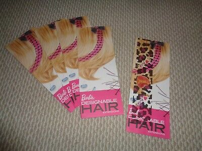 Barbie designable hair extensions lot of 5 NEW