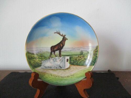 Circa 1925 Souvenir Dish Elk On The Mohawk Trail Whitcomb Summit Massachusetts
