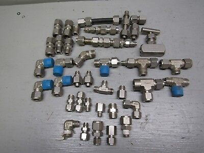 Swagelok 316 Stainless Steel Fittings Lot 12 14 Some 38 8lbs
