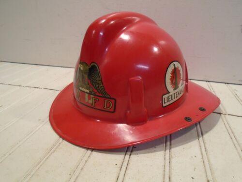 MSA Topguard Fire Helmet Vintage 1952 Lieutenant
