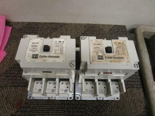 CUTLER HAMMER 3 PH REVERSING CONTACTOR C825KN9 SER A2 200A AMP 120V COIL