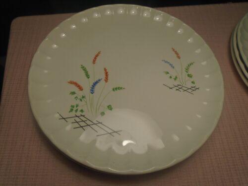 "W.S. George Bolero Plates Orange Blue Green Stalks 10 3/8""  (2)"