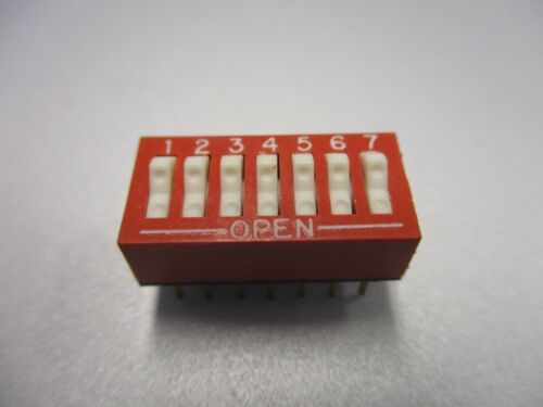 DIP Switch, 7 Position PC Mount DIP Switch (76SB07)(New Old Stock)(QTY 5 ea)D24