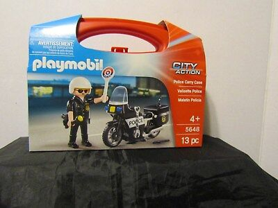 Playmobil City Action Police Carry Case Building Set 5648   NEW/SEALED
