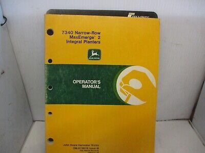 John Deere 7340 Narrow Row Maxemerge 2 Integral Planter Operators Manual