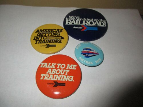 Four Vintage Amtrak Pins