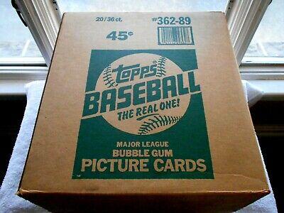 1989 TOPPS SEALED WAX  CASE! (#362-89)-20/36 CT.-BUBBLE GUM CARDS Bubble Gum Wax