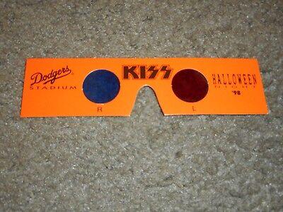 KISS - ORIGINAL 3D GLASSES - DODGER STADIUM - HALLOWEEN 1998 - Original Halloween Kiss