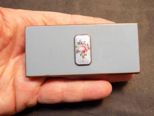 Vintage enamel guilloche compact