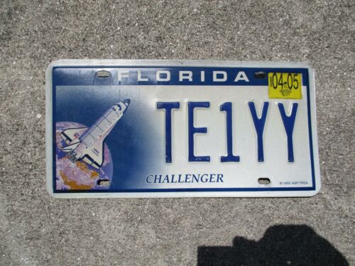 Florida 2005 Challenger license plate  #  TE 1 YY