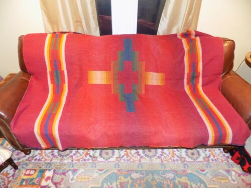 Vintage Wool Indian Design Blanket