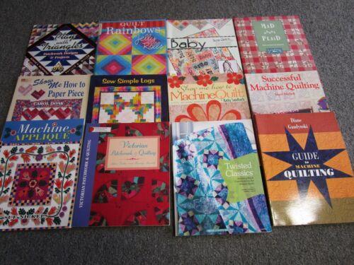 12 Quilt Books Guides Patterns Machine Quilting Victorian Sew