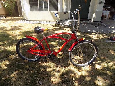 Red Beach Cruiser - Dyno GT Deuce Kustom Kruiser Beach Cruiser Bicycle Red Dyno Deuce Rare Bike
