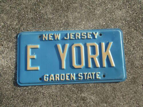 New Jersey vanity license plate  #  E  YORK