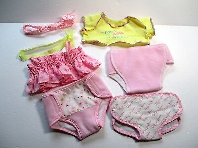 "Doll Clothes fit 13"" Berjusa Berenguer Baby Dolls Lot #31 Tops Diapers Headbands"