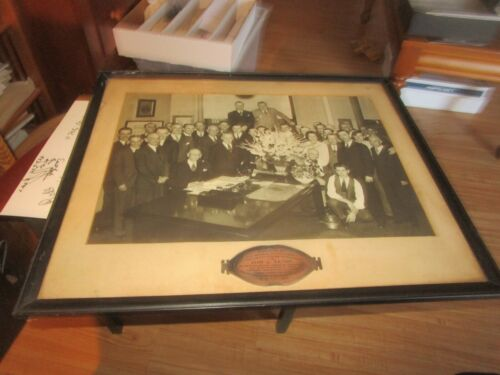 Rare 1941 One of a kind Baltimore And Ohio Railroad Office Photo B&O Framed