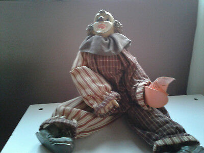 COLLECTIBLE PORCELAIN HUEY THE CLOWN BY SHOW STOPPERS INC for sale  Johnston