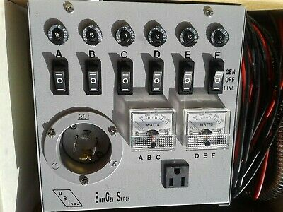 Emergen Switch - Manual Transfer Switch Model No. 6-5000 For 5000w Generators