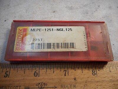 Sandvik Coromant Mlpe 1251 Ngl.125 225t Grooving Lathe Carbide Inserts 10 Pc New