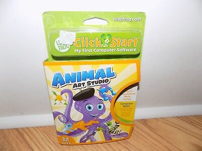 Leap Frog Clickstart Animal Art Studio My First Computer Software   New
