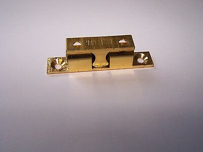 "222842 Sea-Dog Line Brass Stud Catch w/ Stainless Ball & Spring 1-15/16"" 132-126"