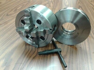 6 4-jaw Lathe Chuck W Independent Jaws W L00 Adapter Semi-finished 0604f0