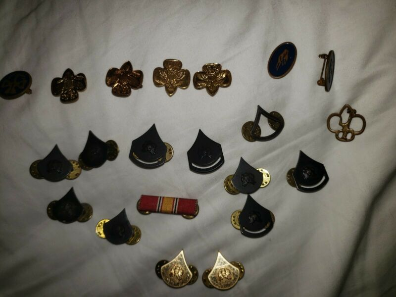 Lot of Vintage scouting boy &  Girl Scout Pins