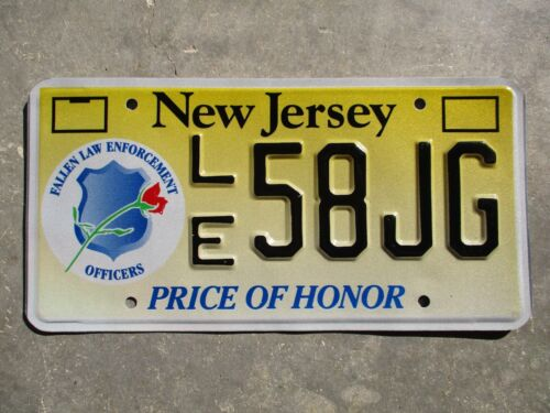 New Jersey Price of Honor license plate #  58JG