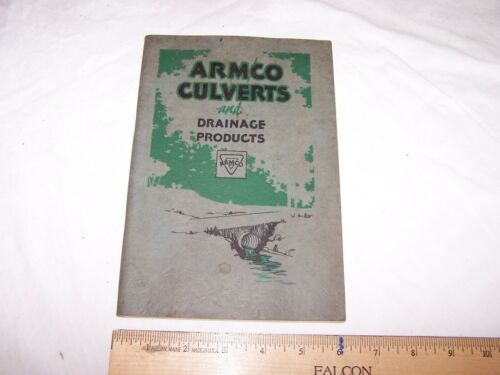 1928 ARMCO CULVERTS & DRAINAGE PRODUCTS 77 Page Guide Information