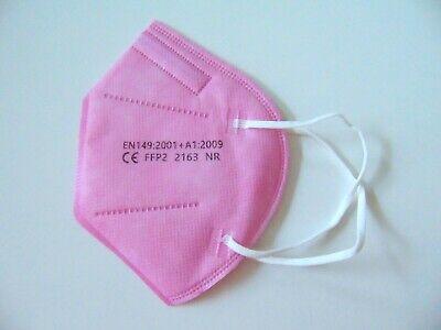 10 x FFP2 Masken Mundschutz Rosa Kinder 5 Lagig CE 2163 zertifiziert Kid NEU