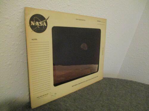 """1968 NASA APOLLO 8 EARTH RISES TRANSPARENCY ORIGINAL NASA MEATBALL MATTE-11""""x14"""""""