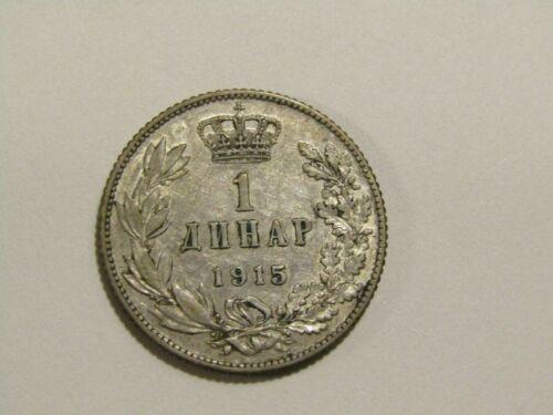 Serbia 1915-A 1 Dinar Silver Coin