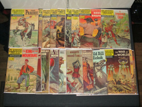 Classics Illustrated collection 20 issues worlds greatest authors! VG- 1966-1970