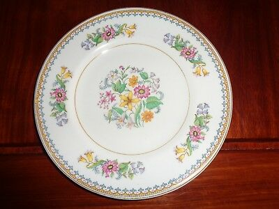 Maddock England Vitreous Floral Side Plate CELESTE
