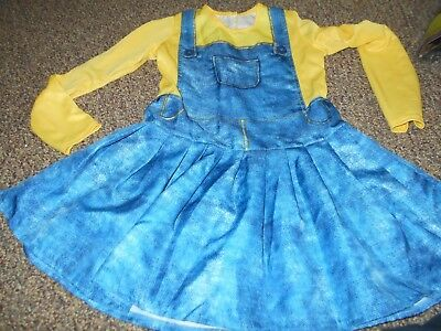 Rubie's Despicable Me~ Minion Dress Costume/Halloween/Cosplay Girl's Sz M EUC